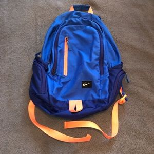 Nike pink and blue backpack